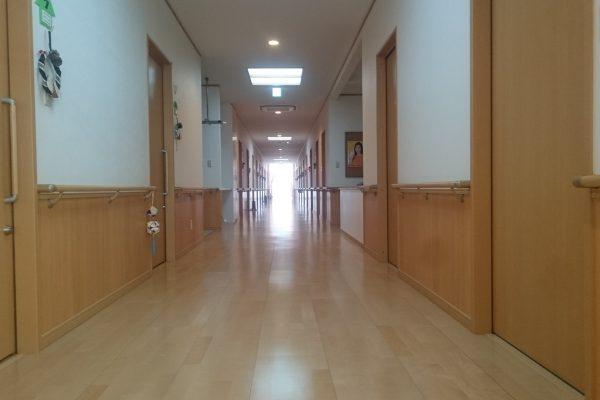 すれ違いも余裕な広さの廊下