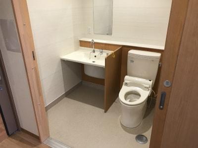 扉が大きく開く為とても使い勝手の良いおトイレになっています