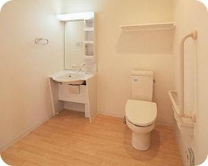 全室にトイレ・洗面完備です。