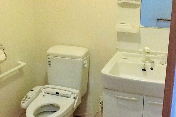 居室に広いトイレ付き