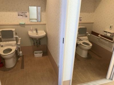 おトイレも広々として使いやすいです