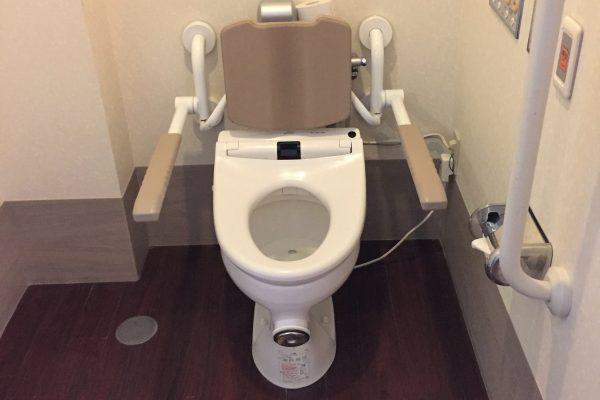 サポート付きトイレ