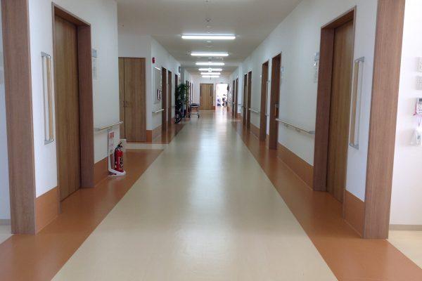 廊下風景(広く清潔です)